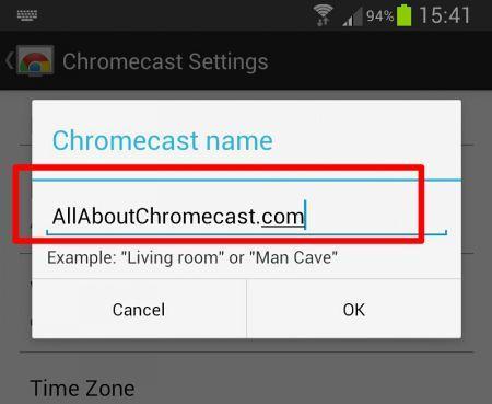 rename-chromecast-new name allaboutchromecast