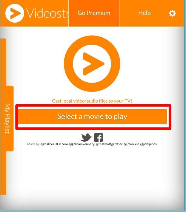 How to use Videostream extension to stream local videos for Chromecast?