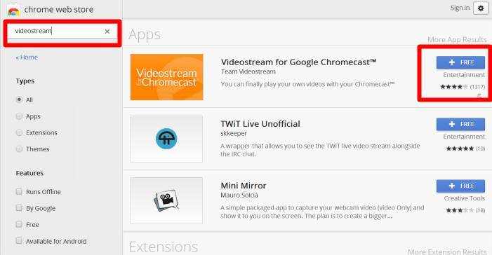 How to use Videostream extension to stream local videos for