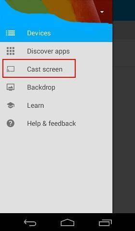 Android screen casting for Chromecast is now supported on