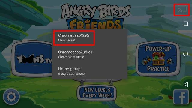 play games on Chromecast from mobile devices angry birds friends